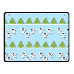 Christmas Angels  Fleece Blanket (small) by Valentinaart