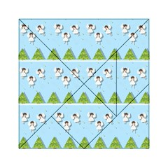 Christmas Angels  Acrylic Tangram Puzzle (6  X 6 ) by Valentinaart