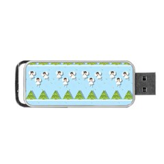 Christmas Angels  Portable Usb Flash (one Side) by Valentinaart
