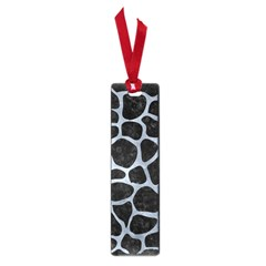 Skin1 Black Marble & Silver Paint Small Book Marks by trendistuff