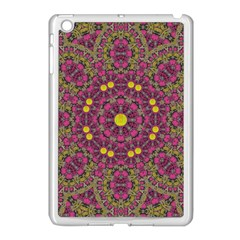 Butterflies  Roses In Gold Spreading Calm And Love Apple Ipad Mini Case (white) by pepitasart