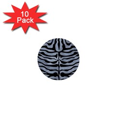 Skin2 Black Marble & Silver Paint 1  Mini Buttons (10 Pack)  by trendistuff