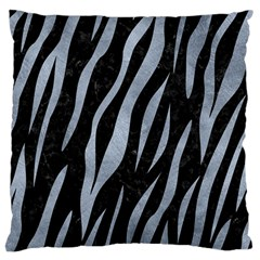 Skin3 Black Marble & Silver Paint (r) Large Cushion Case (one Side) by trendistuff
