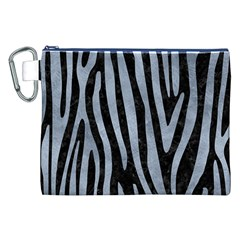 Skin4 Black Marble & Silver Paint Canvas Cosmetic Bag (xxl) by trendistuff