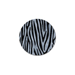 Skin4 Black Marble & Silver Paint (r) Golf Ball Marker by trendistuff