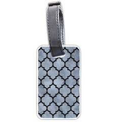 Tile1 Black Marble & Silver Paint Luggage Tags (two Sides) by trendistuff