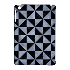 Triangle1 Black Marble & Silver Paint Apple Ipad Mini Hardshell Case (compatible With Smart Cover) by trendistuff
