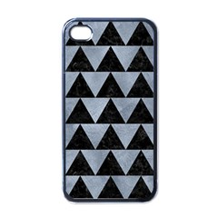 Triangle2 Black Marble & Silver Paint Apple Iphone 4 Case (black) by trendistuff