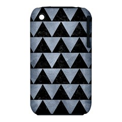 Triangle2 Black Marble & Silver Paint Iphone 3s/3gs by trendistuff