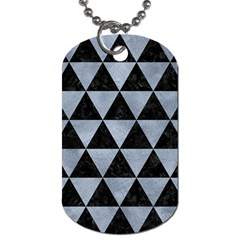 Triangle3 Black Marble & Silver Paint Dog Tag (two Sides) by trendistuff