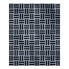 Woven1 Black Marble & Silver Paint Shower Curtain 60  X 72  (medium)  by trendistuff