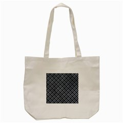 Woven2 Black Marble & Silver Paint (r) Tote Bag (cream) by trendistuff