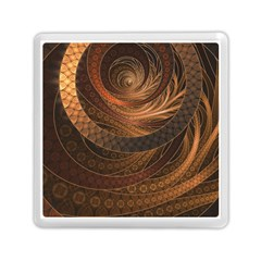 Brown, Bronze, Wicker, And Rattan Fractal Circles Memory Card Reader (square)  by beautifulfractals