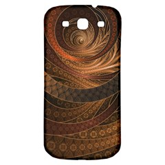 Brown, Bronze, Wicker, And Rattan Fractal Circles Samsung Galaxy S3 S Iii Classic Hardshell Back Case by beautifulfractals