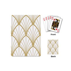 Art Deco, Beautiful,fan Pattern, Gold,white,vintage,1920 Era, Elegant,chic,vintage Playing Cards (mini)  by 8fugoso