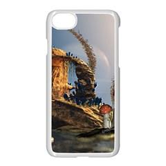Wonderful Seascape With Mushroom House Apple Iphone 7 Seamless Case (white) by FantasyWorld7