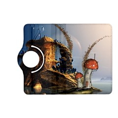 Wonderful Seascape With Mushroom House Kindle Fire Hd (2013) Flip 360 Case by FantasyWorld7