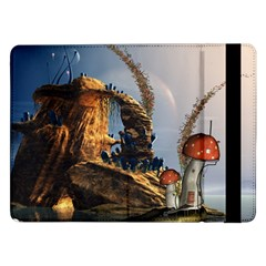 Wonderful Seascape With Mushroom House Samsung Galaxy Tab Pro 12 2  Flip Case by FantasyWorld7