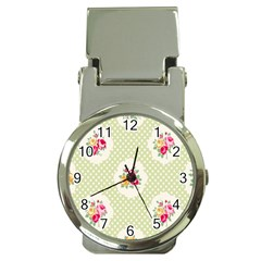 Green Shabby Chic Money Clip Watches by 8fugoso