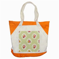 Green Shabby Chic Accent Tote Bag by 8fugoso