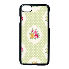Green Shabby Chic Apple Iphone 8 Seamless Case (black) by 8fugoso