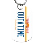 OUTATIME License Plate Dog Tag (Two-sided)