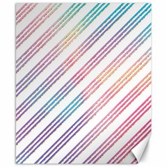 Colored Candy Striped Canvas 8  X 10  by Colorfulart23