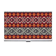 Aztec Mayan Inca Pattern 7 Business Card Holders by Cveti