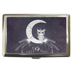 Mandala, Cute Owl On The Moon Cigarette Money Cases by FantasyWorld7