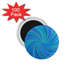 Blue Background Spiral Swirl 1 75  Magnets (100 Pack)  by Celenk
