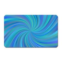 Blue Background Spiral Swirl Magnet (rectangular) by Celenk