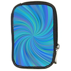 Blue Background Spiral Swirl Compact Camera Cases by Celenk