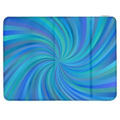 Blue Background Spiral Swirl Samsung Galaxy Tab 7  P1000 Flip Case by Celenk