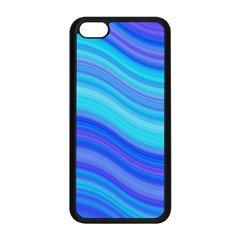 Blue Background Water Design Wave Apple Iphone 5c Seamless Case (black) by Celenk
