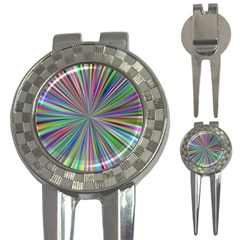 Burst Colors Ray Speed Vortex 3 In 1 Golf Divots by Celenk