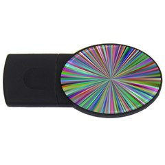 Burst Colors Ray Speed Vortex Usb Flash Drive Oval (4 Gb) by Celenk