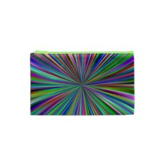 Burst Colors Ray Speed Vortex Cosmetic Bag (xs) by Celenk