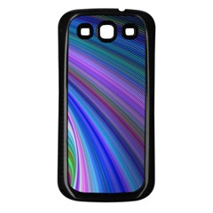 Background Abstract Curves Samsung Galaxy S3 Back Case (black)