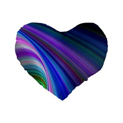 Background Abstract Curves Standard 16  Premium Flano Heart Shape Cushions by Celenk