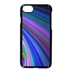 Background Abstract Curves Apple Iphone 8 Seamless Case (black) by Celenk