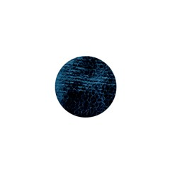 Blue Black Shiny Fabric Pattern 1  Mini Buttons by Celenk