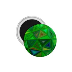 Green Triangle Background Polygon 1 75  Magnets
