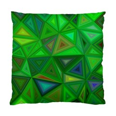 Green Triangle Background Polygon Standard Cushion Case (two Sides) by Celenk