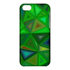 Green Triangle Background Polygon Apple Iphone 5c Hardshell Case by Celenk