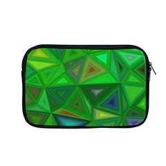 Green Triangle Background Polygon Apple Macbook Pro 13  Zipper Case by Celenk