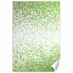 Green Square Background Color Mosaic Canvas 24  X 36