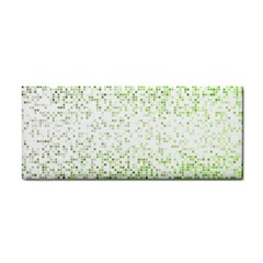 Green Square Background Color Mosaic Cosmetic Storage Cases by Celenk