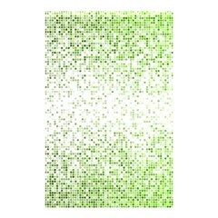 Green Square Background Color Mosaic Shower Curtain 48  X 72  (small)  by Celenk