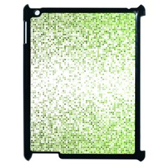 Green Square Background Color Mosaic Apple Ipad 2 Case (black) by Celenk