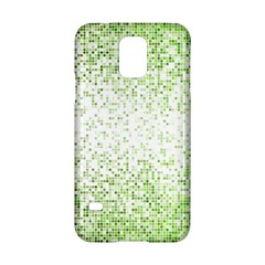 Green Square Background Color Mosaic Samsung Galaxy S5 Hardshell Case  by Celenk